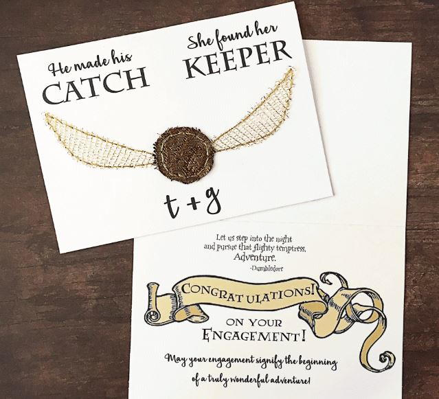 Harry Potter Themed Printable Wedding Cards