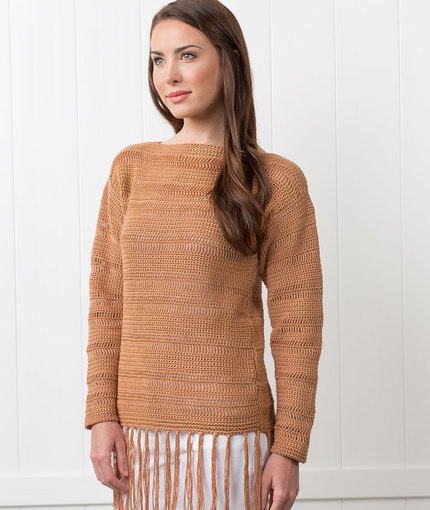 Flower Hill Crochet Pullover
