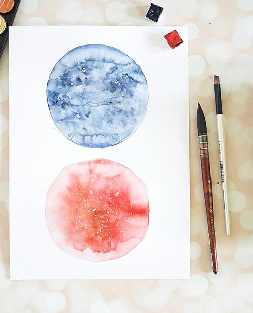 Gorgeous DIY Watercolor Moon