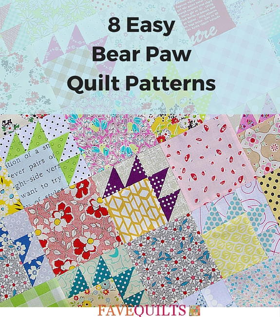 8 Easy Bear Paw Quilt Patterns Favequilts Com