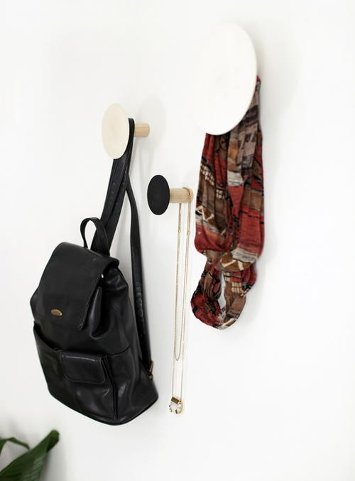 Creative Circle DIY Coat Hooks