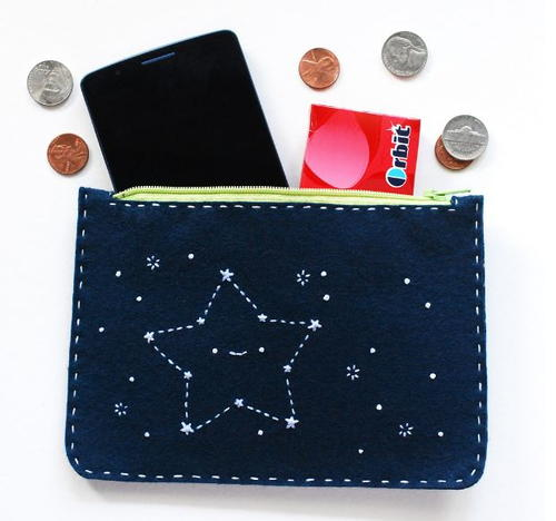 Smiling Christmas Star DIY Clutch