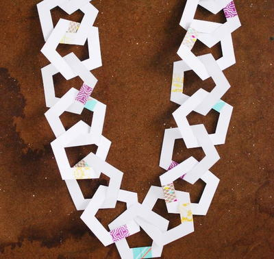 Paper Pentagon Printable Garland