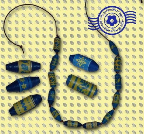 How to Make Paper Beads with Printable Templates
