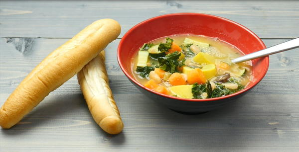Very Veggie Kale and White Bean Soup