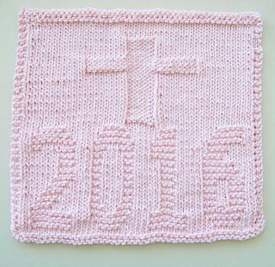 Kitchen Cross Knitted Dishcloth