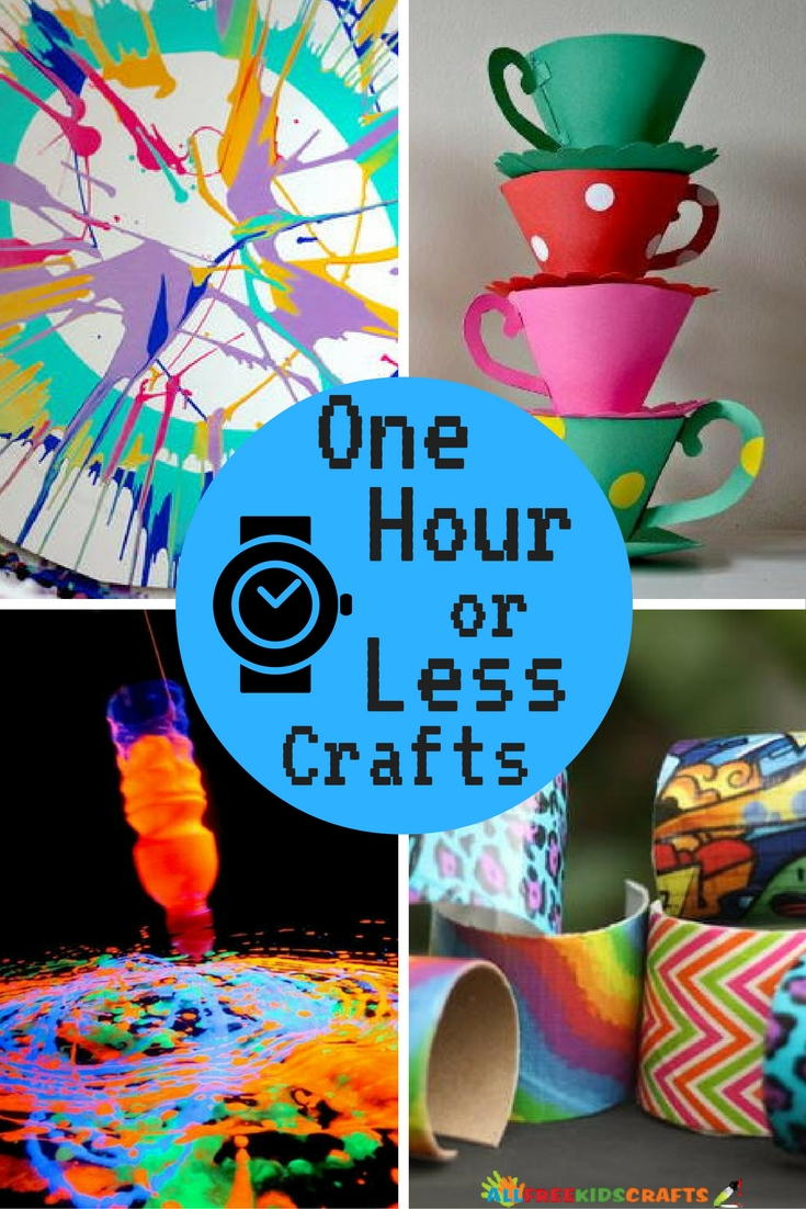 quick craft ideas for kids 26 and easy crafts one hour or less 7083
