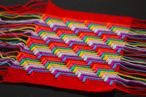 Narrow Steps Crochet Blanket Pattern