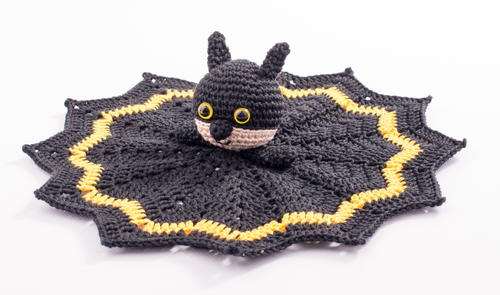 Caped Crusader Crochet Lovey