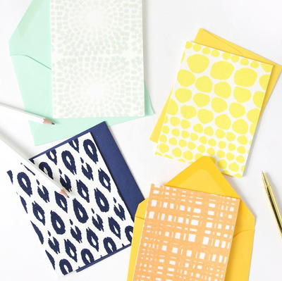 Fabric-Covered Handmade Cards