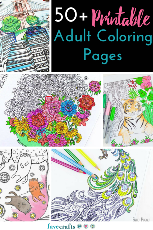 55 Adult Coloring Book Pages