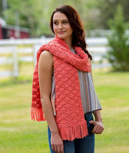 Wavy Drop Stitch Scarf