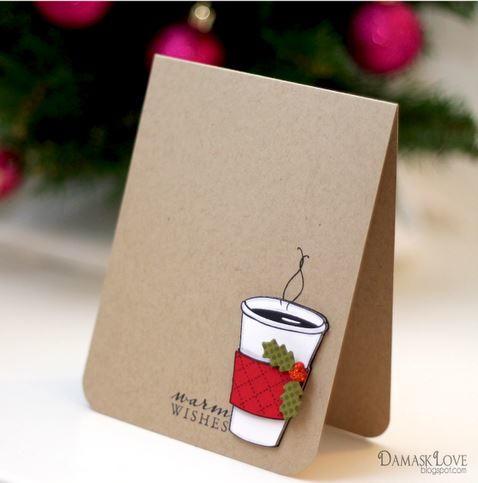 warm wishes diy christmas card allfreechristmascraftscom