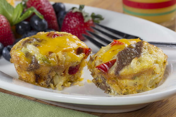 Philly Cheese Steak Omelet Cups
