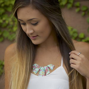 Geometric Duct Tape Necklace