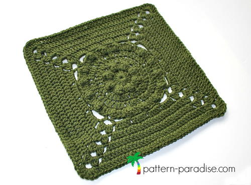 Tranquil Garden Afghan Square
