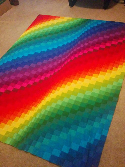 Rainbow Bright Bargello Quilt