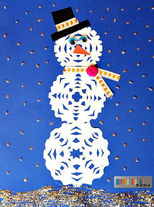 Paper Snowman Craft for Kids