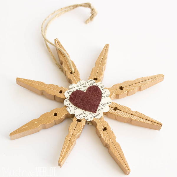 Snowflake Clothespin Craft