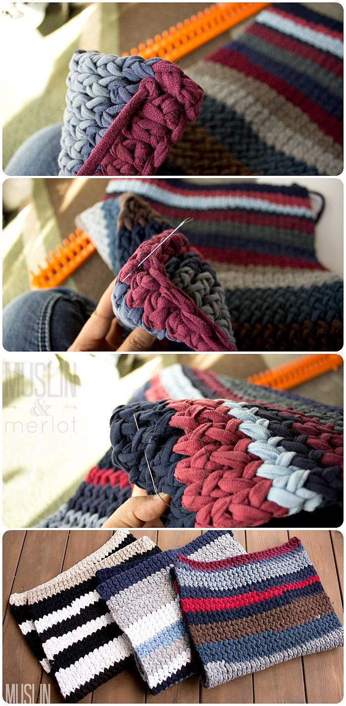 T Shirt Yarn Knit Rug Favecrafts Com