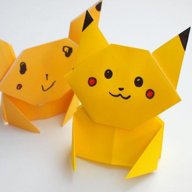 Pikachu Origami Tutorial Allfreepapercrafts