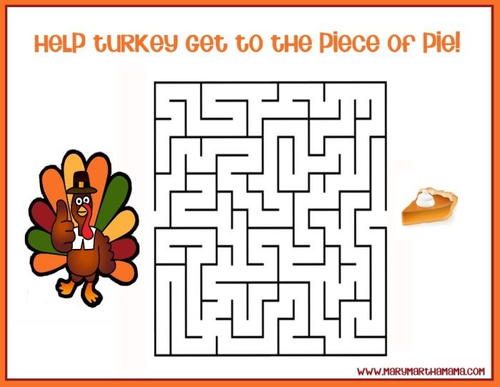 Assorted Free Printable Thanksgiving Activities for Kids