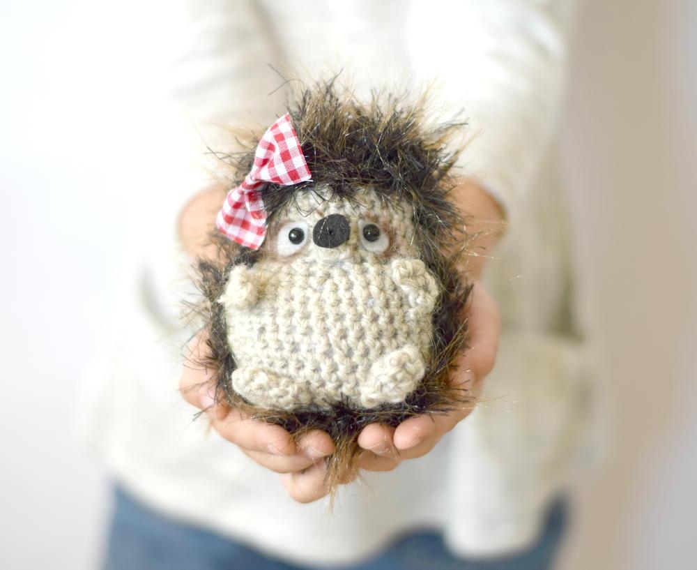 Hedgehog Slippers Knitting Pattern : Adorable Woodland Hedgehog AllFreeCrochet.com