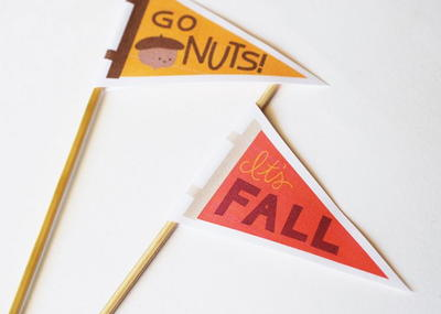 Welcome Autumn Printable Mini Pennants