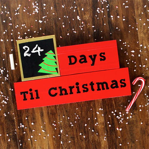 Duct Tape Christmas Countdown Craft