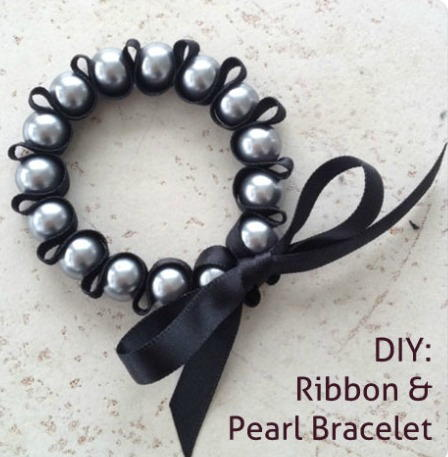 Stunning Ribbon and Pearl Bracelet