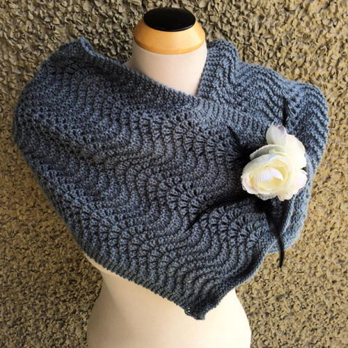 Single Skein Denim Scarflette