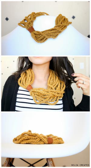 Thousand Chains Crochet Scarf