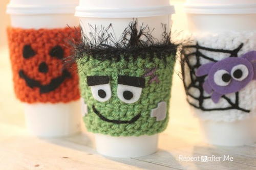 Monster Bash Halloween Cup Cozy