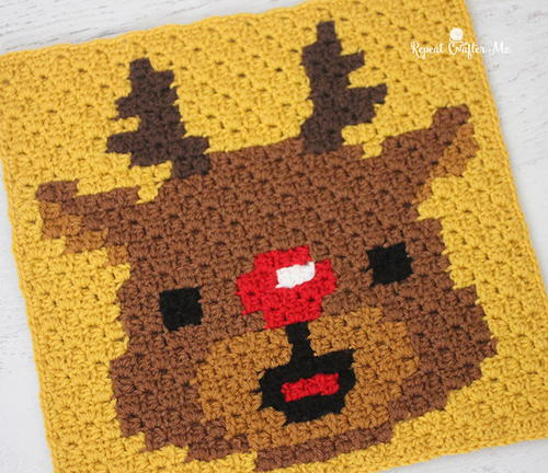 Have a Pixel Christmas Rudolph Square