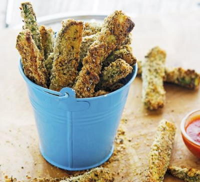 Parmesan-Crusted Baked Zucchini Fries