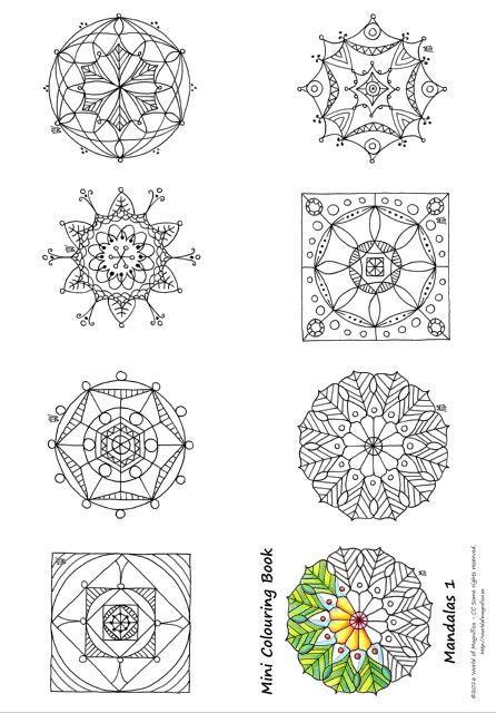 Mini Mandalas To Color Favecrafts Com