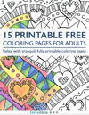 15 Free Printable Coloring Pages for Adults