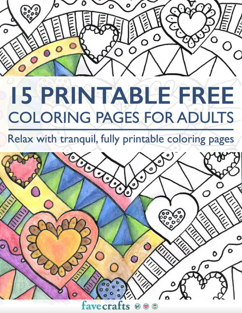 15 Printable Free Coloring Pages for Adults free eBook