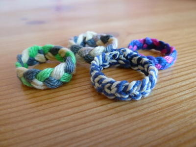 Colorful Braided DIY Rings