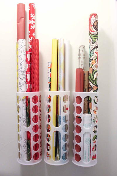 Wrapping Paper DIY Storage