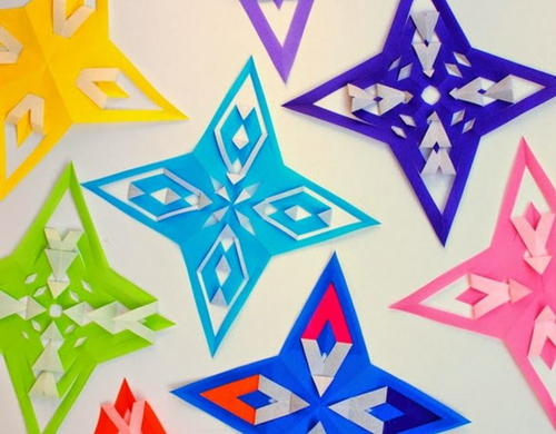 Christmas Star Origami Paper Ornaments