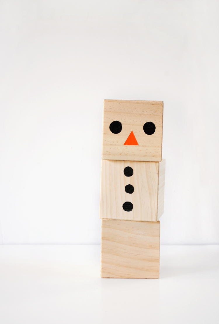 Wooden Blocks For Crafts ~ Wooden wonderland snowman blocks craft allfreekidscrafts