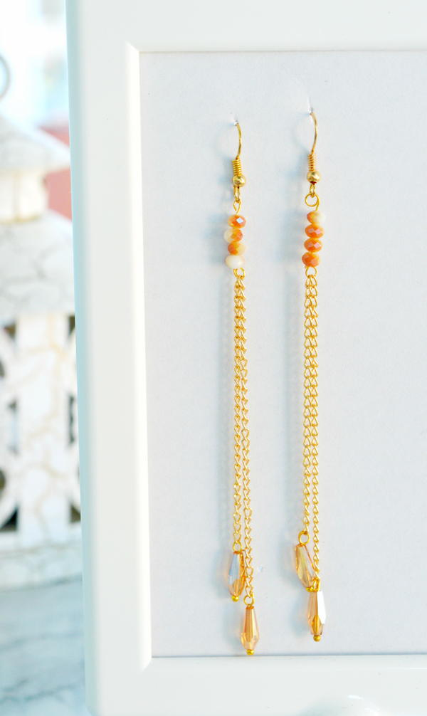 Sparkly Beaded Chain Earrings