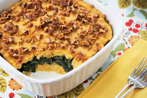 Southern Collard Greens and Grits Casserole