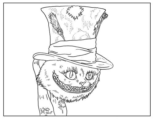 Free Tim Burton Coloring Pages