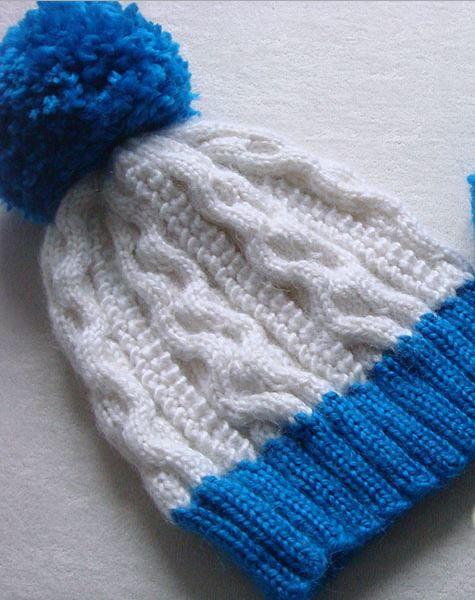 Popcorn Stitch Cable Hat Allfreeknitting Com