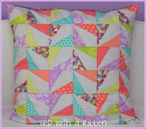Confetti Quilted Cushion Tutorial