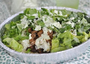 Copycat Cafe Rio Sweet Pork Salad with Tomatillo Dressing