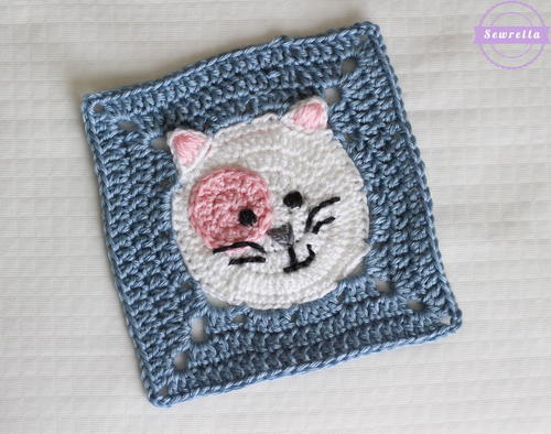 Kitty Cat Granny Square