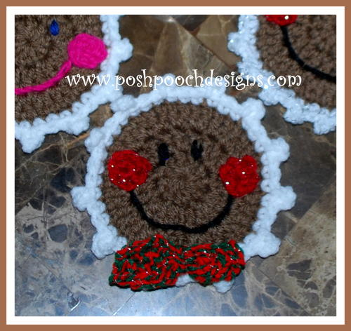 Christmas Gingerbread Coasters Allfreecrochetcom